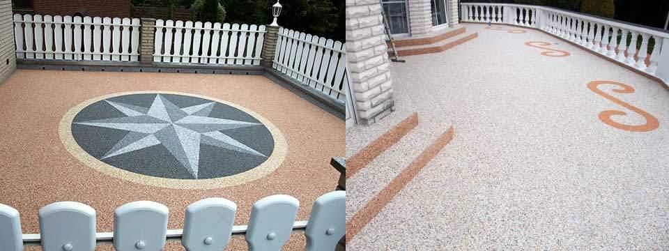 steinteppich fussboden aus marmorkies f r terrasse. Black Bedroom Furniture Sets. Home Design Ideas
