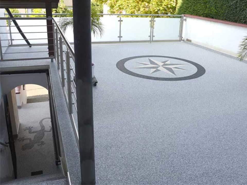 Balkonsanierung mit  Steinteppich