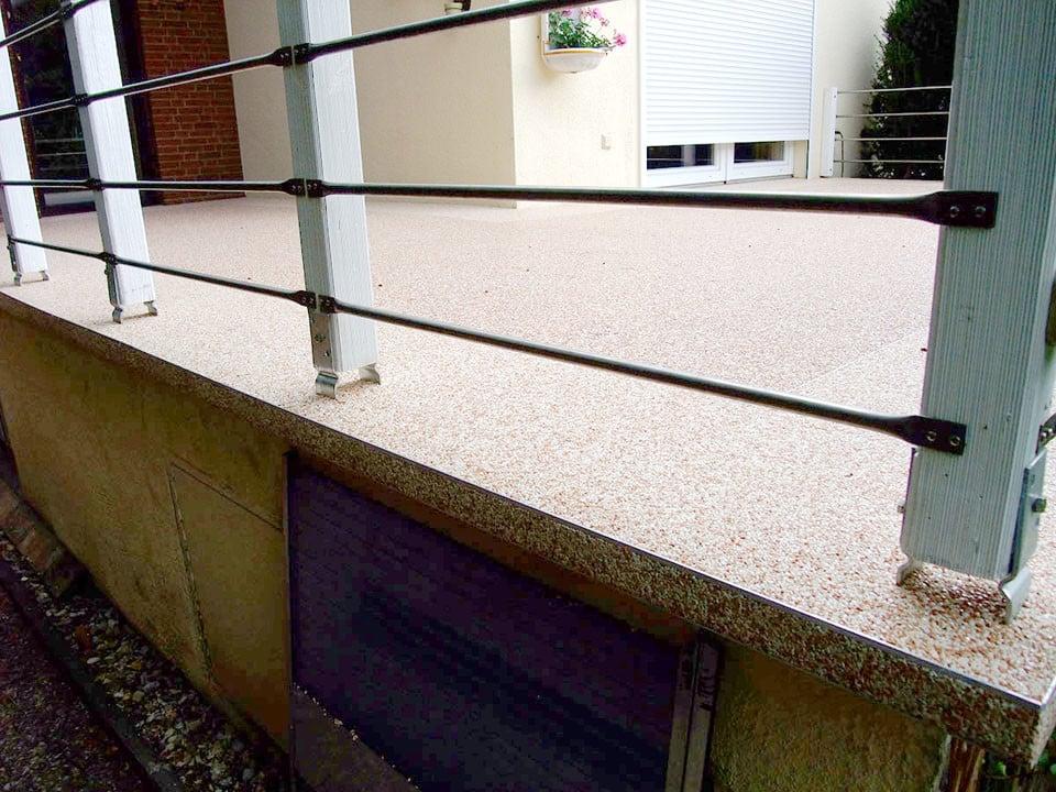 Balkon - Terrasse aus Steinteppich