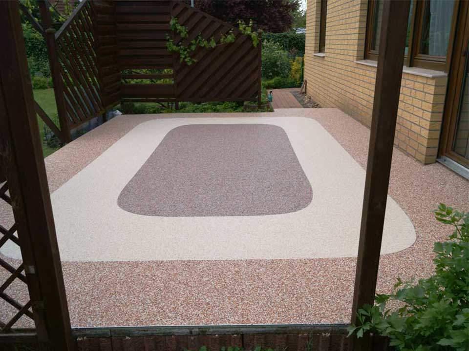 Terrasse mit Muster