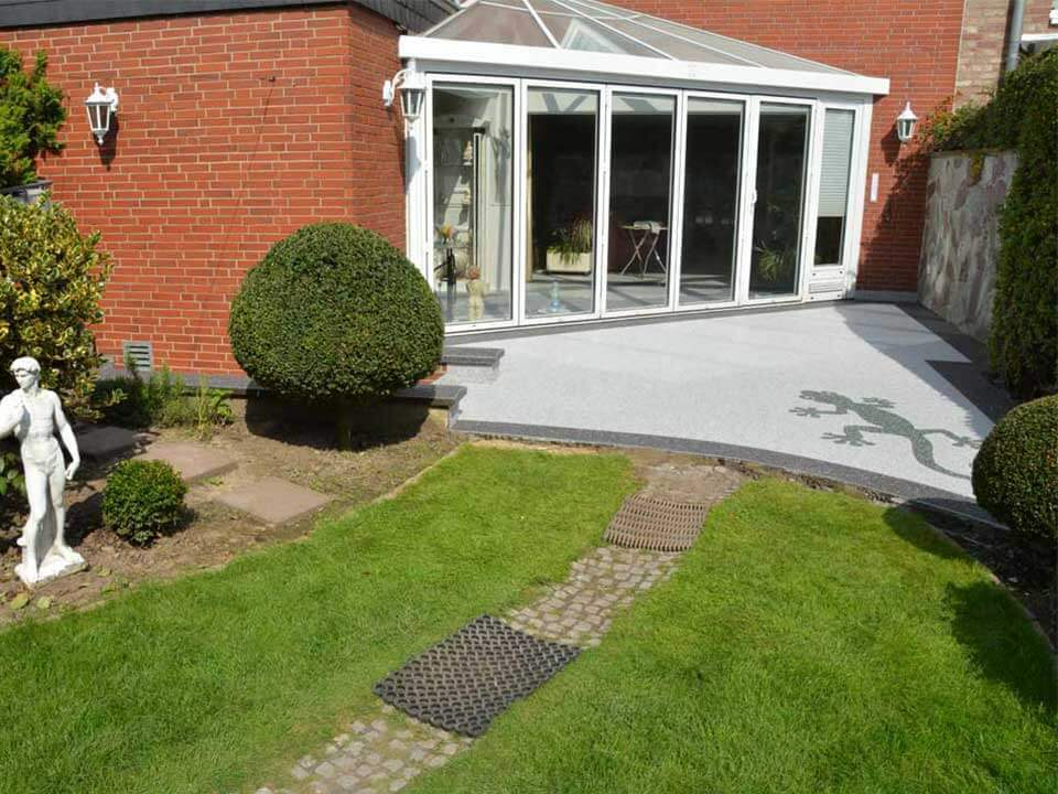 Terrasse saniert mit Bemusterung