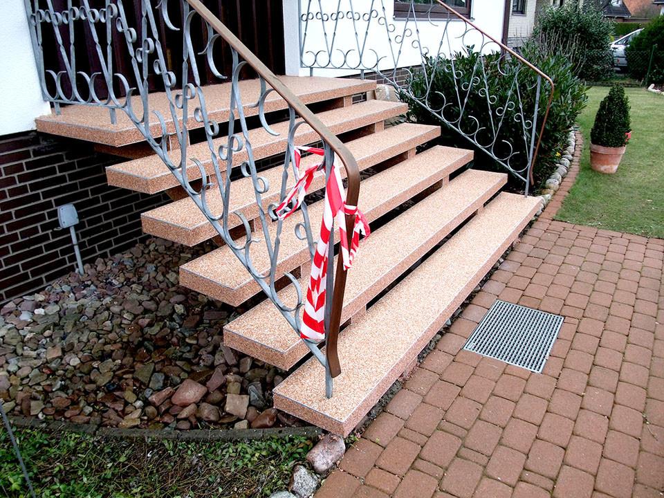 Treppensanierung mit Steinteppich