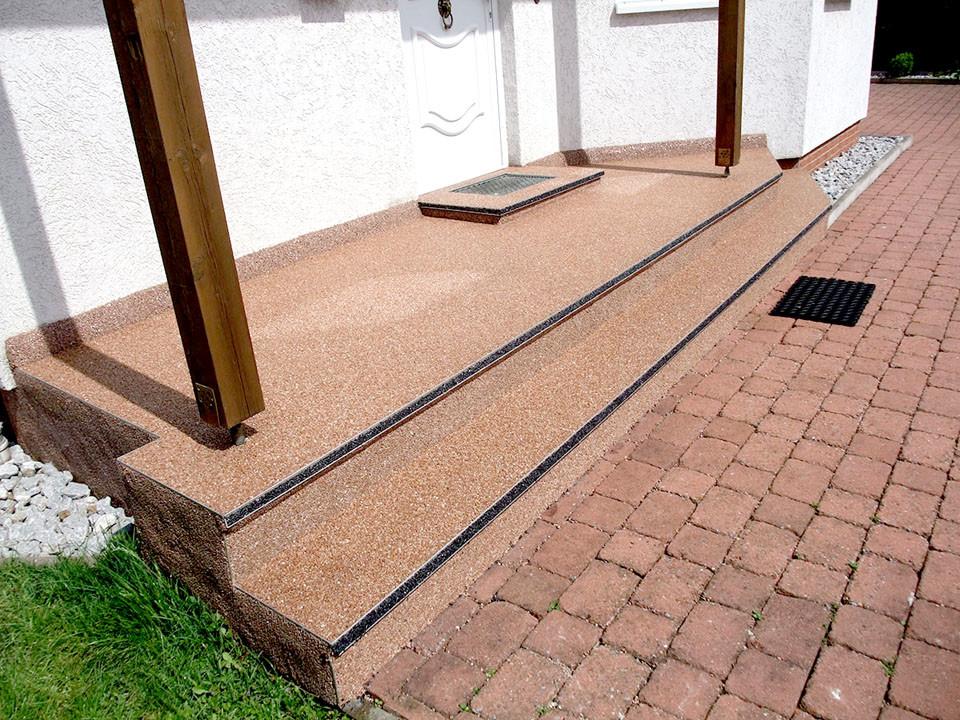 Steinteppichtreppe Eingang