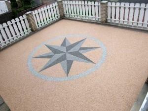 Steinteppich Designterrasse