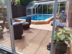 Steinteppich für Terrasse und Pool