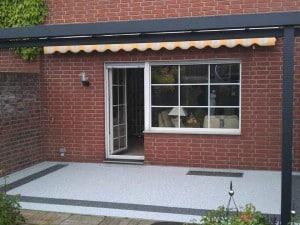 Terrassenrenovierung mit Steinteppich - Bodenbeschichtung
